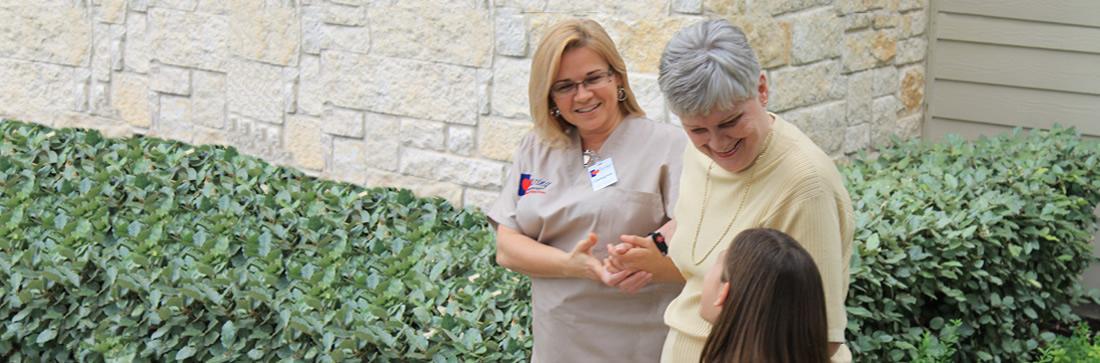 Caring Senior Service Client and Caregiver