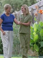 Caregiver with Senior Lady