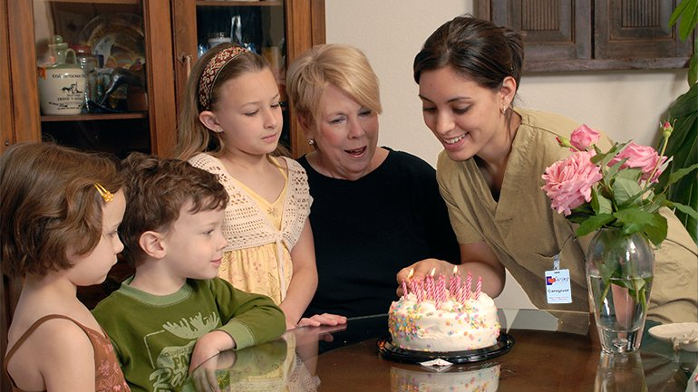 Caregiver Birthday Service Module Slider