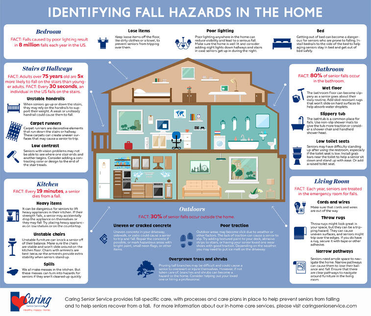 Fall Hazards in Home Infographic