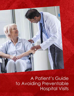 Cover with Doctor Speaking to Senior Lady in Wheelchair
