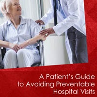 Cover of Patient Guide with Senior Lady in Wheelchair Talking to Doctor