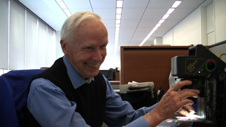 Bill Cunningham Working