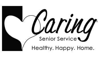 Caring Senior Service Black & White Logo
